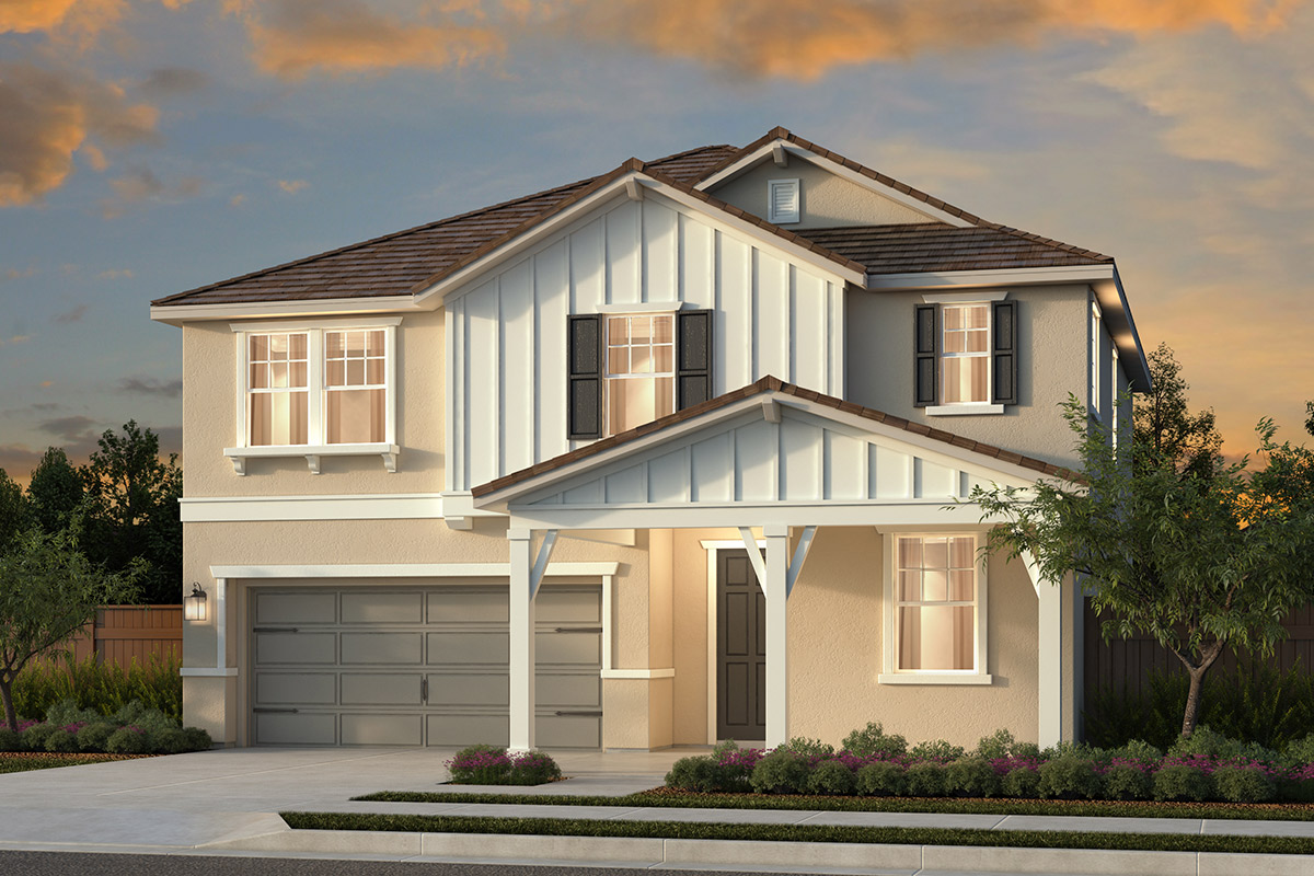 New Homes in Woodland, CA - Plan 5 - Farmhouse Elevation
