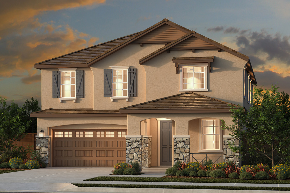 New Homes in Woodland, CA - Plan 3061 - French Country Elevation