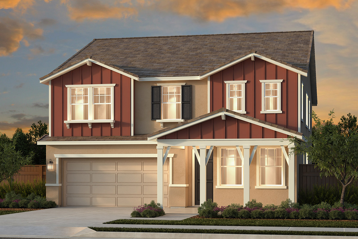 New Homes in Woodland, CA - Plan 3061 - Farmhouse Elevation