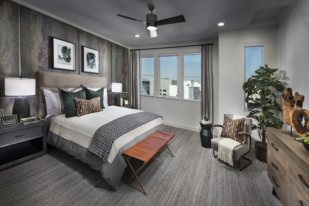 New Homes in San Jose, CA - Catalyst at Communications Hill Plan 1 Master Bedroom