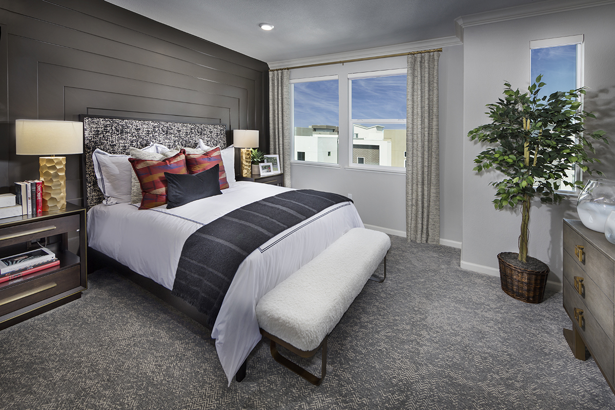 New Homes in San Jose, CA - Catalyst at Communications Hill Plan 2 Master Bedroom