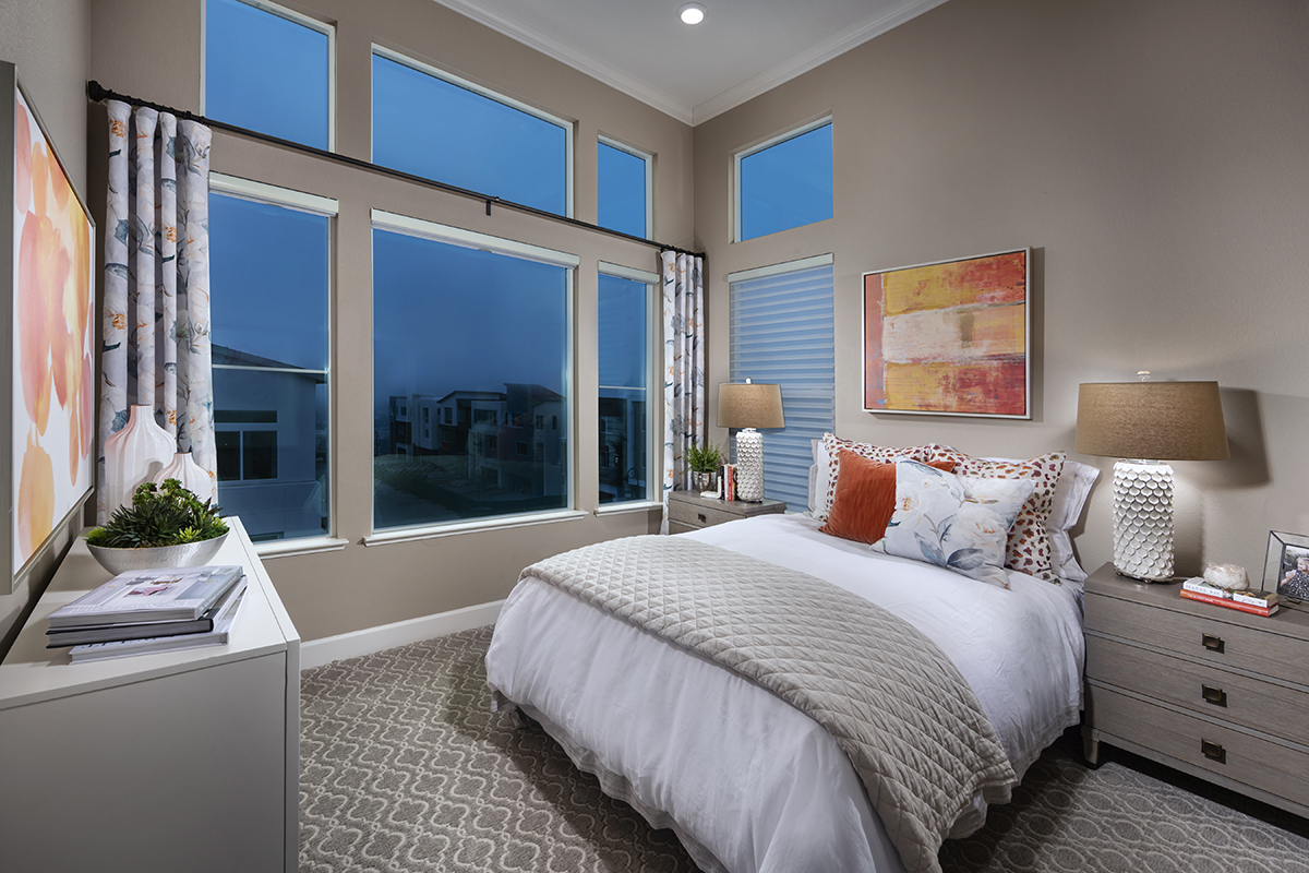 New Homes in San Jose, CA - Catalyst at Communications Hill Plan 3 Master Bedroom