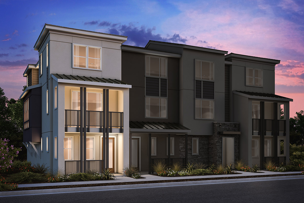 New Homes in Milpitas, CA - 4-Plex Elevation A