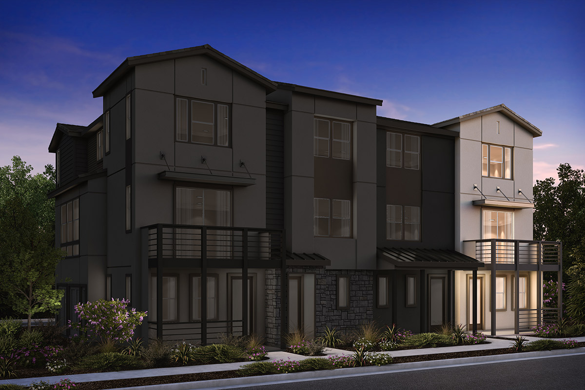 New Homes in Milpitas, CA - 4-Plex Elevation B (Reverse)