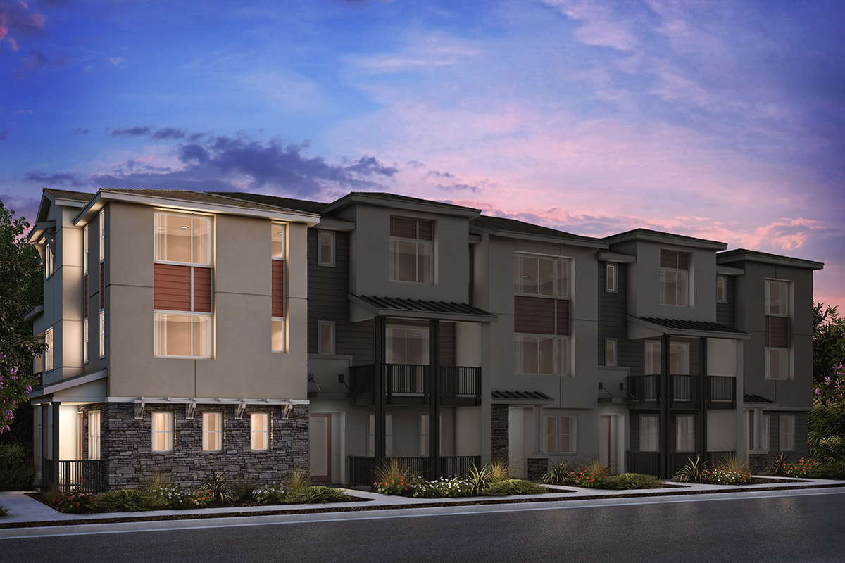 New Homes in Milpitas, CA - 5-Plex Elevation A (Reverse)