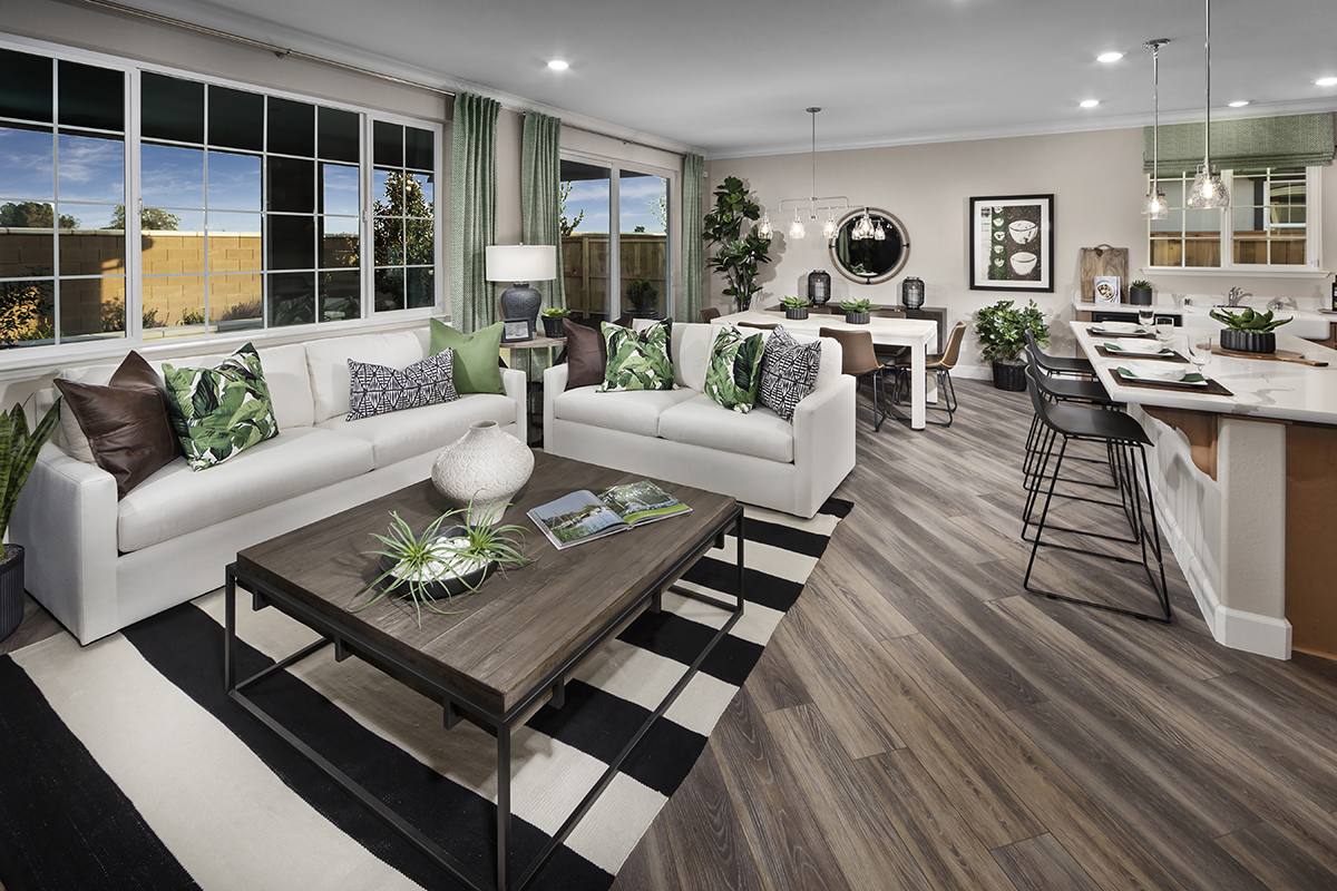 New Homes in Dixon, CA - Copperleaf at Homestead Plan 1769 Great Room