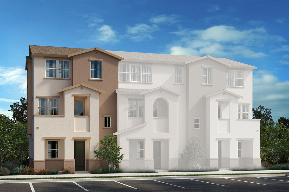 New Homes in Redwood City, CA - Link 33 3-Plex Elevation A