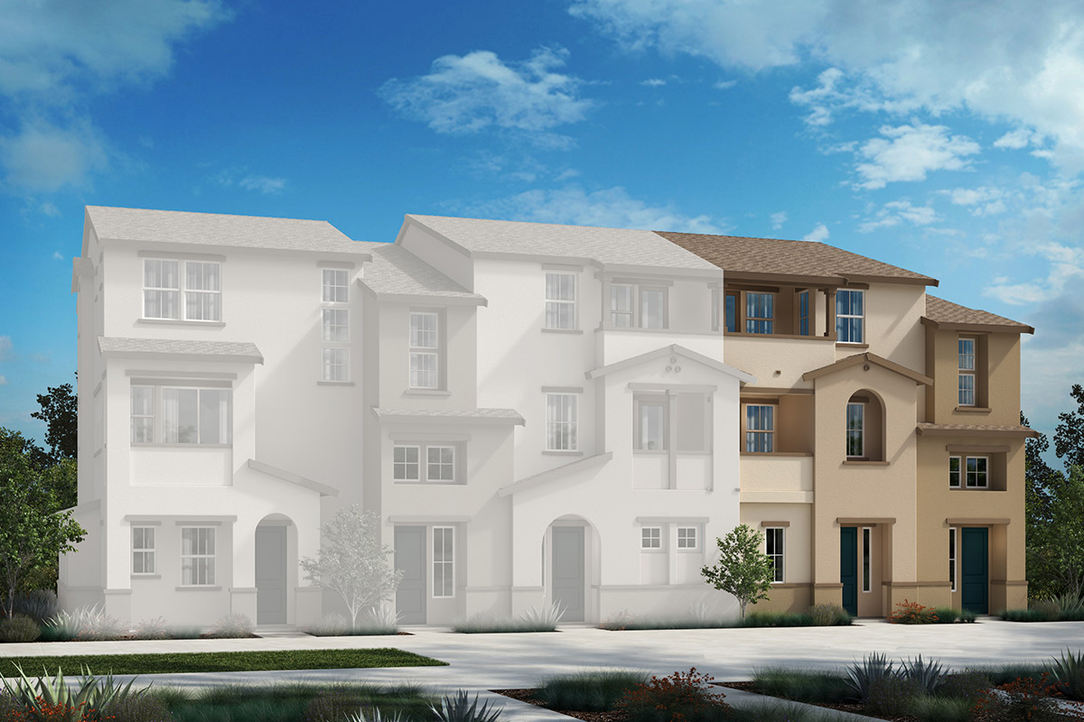 New Homes in Redwood City, CA - Link 33 5-Plex Elevation A-R