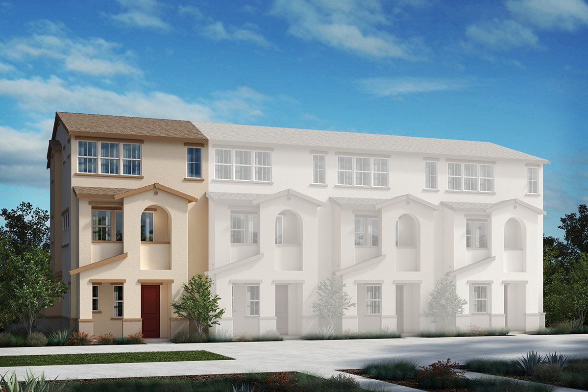 New Homes in Redwood City, CA - Link 33 4-Plex Elevation A