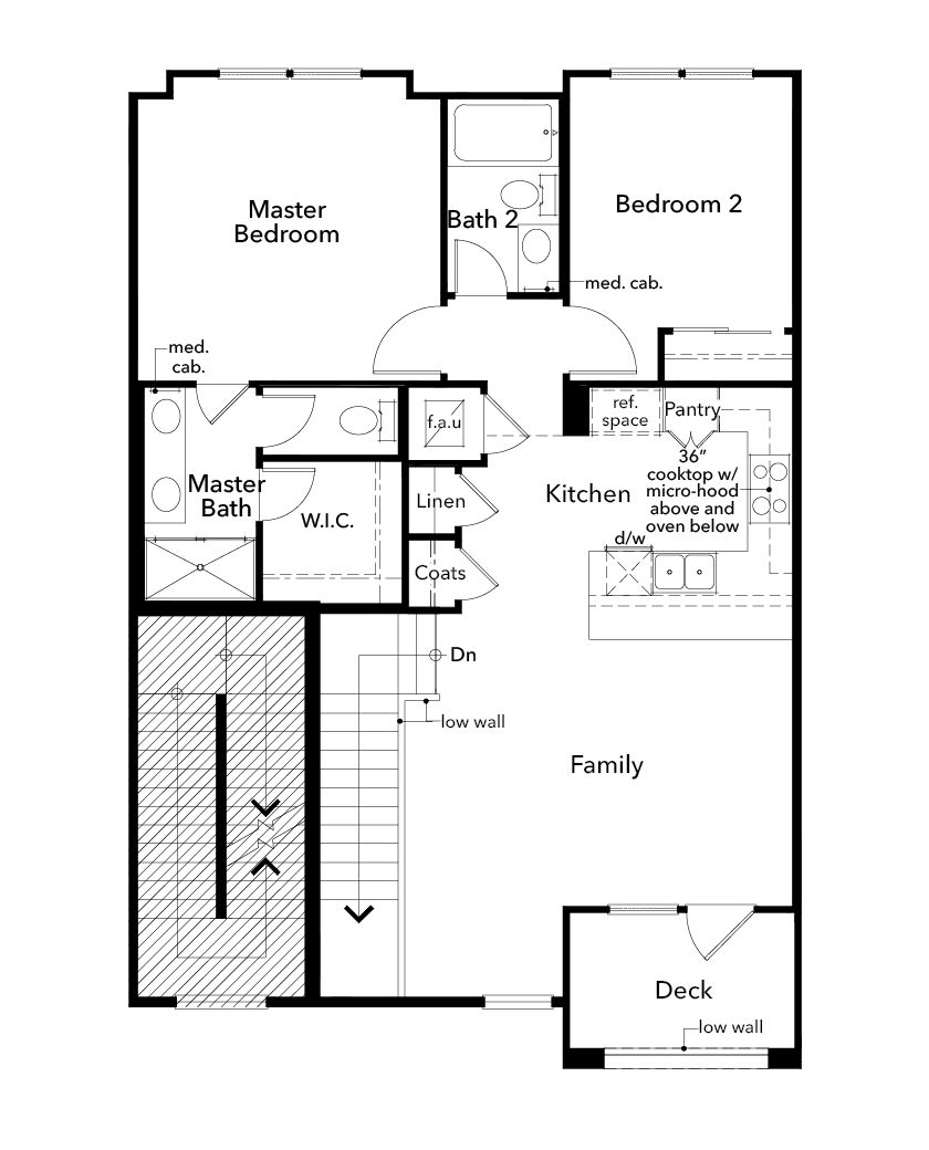 New Homes in Redwood City, CA - Plan 1, Second Floor