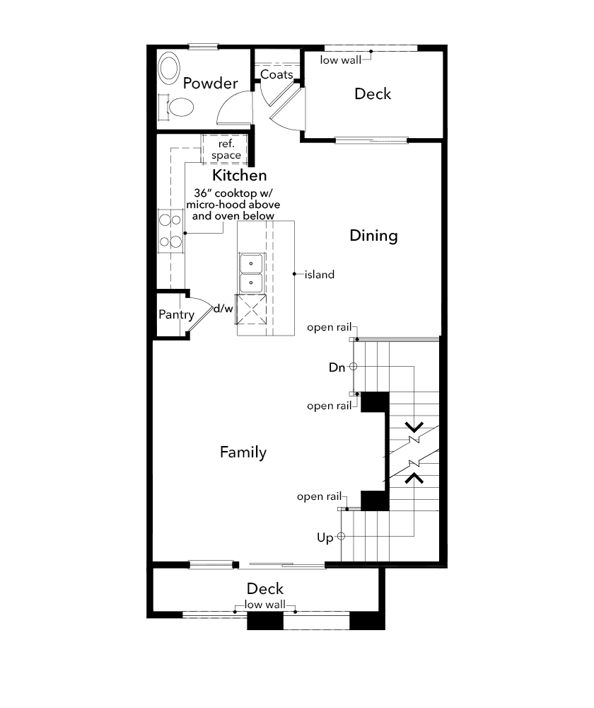 New Homes in Redwood City, CA - Plan 3, Second Floor