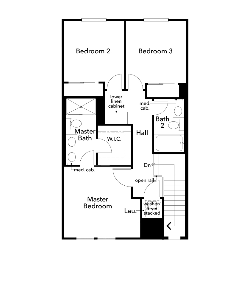 New Homes in Redwood City, CA - Plan 3, Third Floor