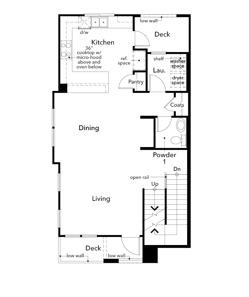 New Homes in Redwood City, CA - Plan 4, Second Floor