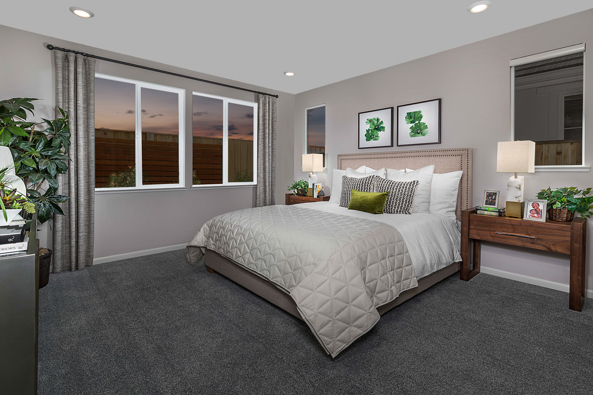 New Homes in Rohnert Park, CA - Live Oak at University District Plan 1787 - Master Bedroom