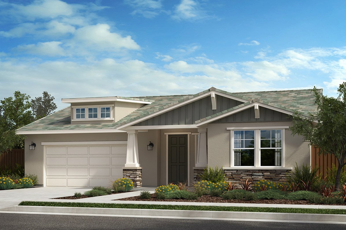 New Homes in Rohnert Park, CA - Live Oak at University District Plan 2004 Craftsman B
