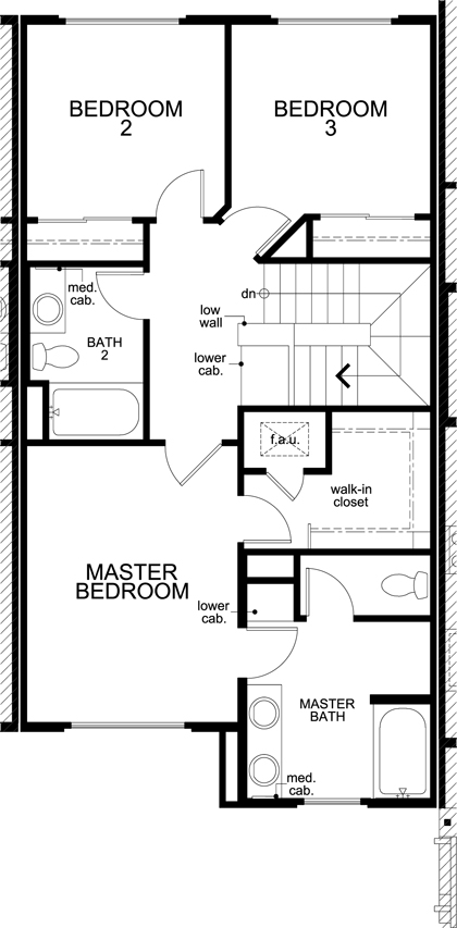 New Homes in San Jose, CA - Plan 4, Third Floor