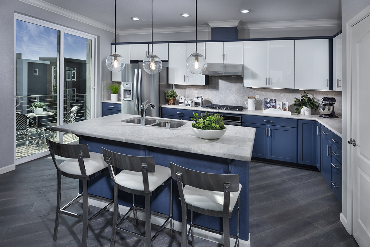 New Homes in San Jose, CA - Metro II at Communications Hill Plan 1 Mezz Kitchen