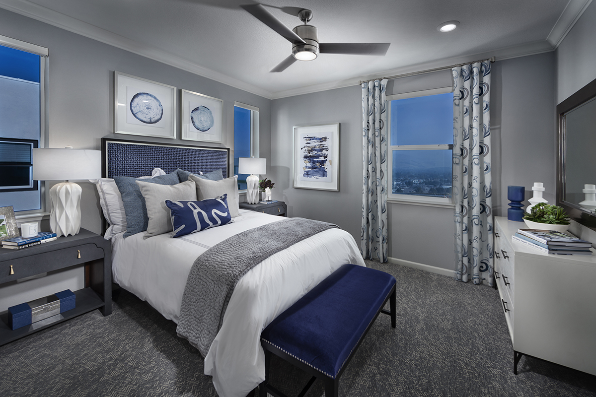 New Homes in San Jose, CA - Metro II at Communications Hill Plan 1 Mezz Master Bedroom