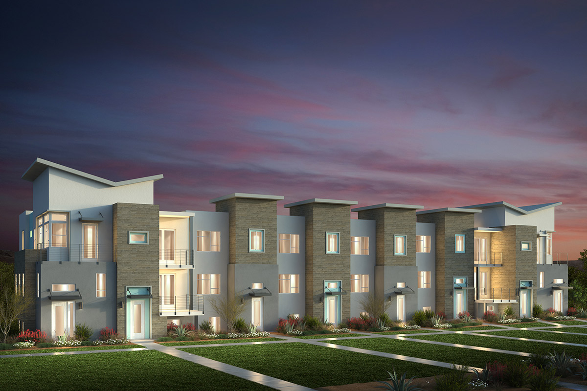 New Homes in San Jose, CA - Contemporary 'C': 8-Plex (Building)