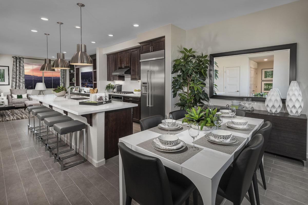 New Homes in San Jose, CA - Metro II at Communications Hill Plan 4 Dining Room