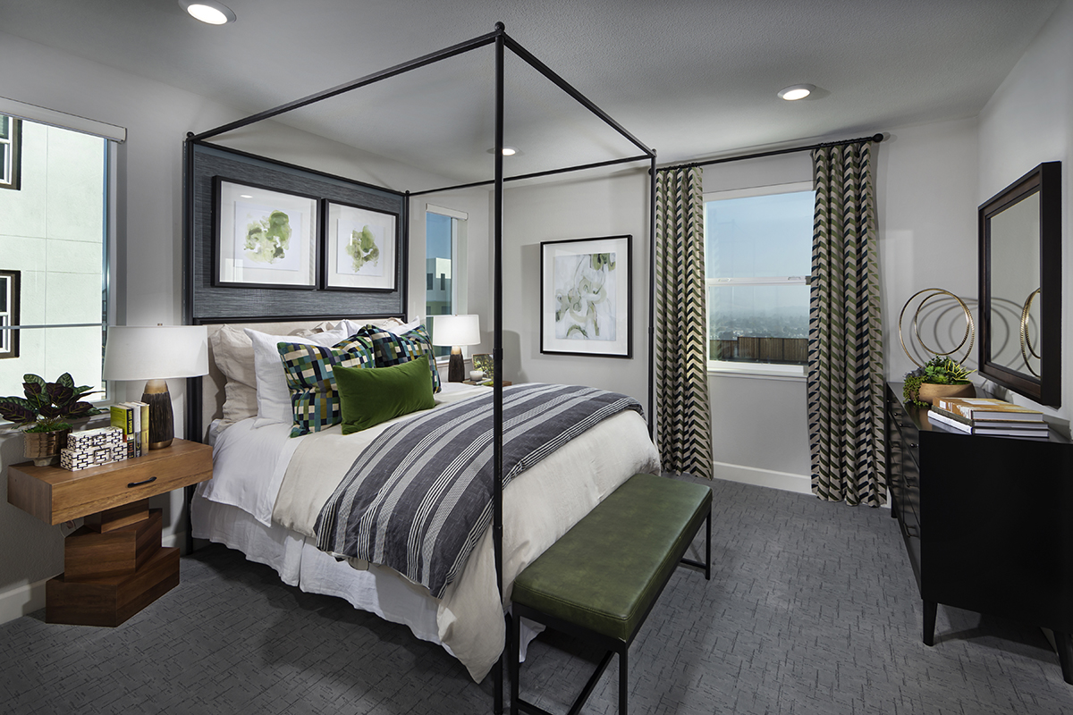 New Homes in San Jose, CA - Metro II at Communications Hill Plan 2 Master Bedroom