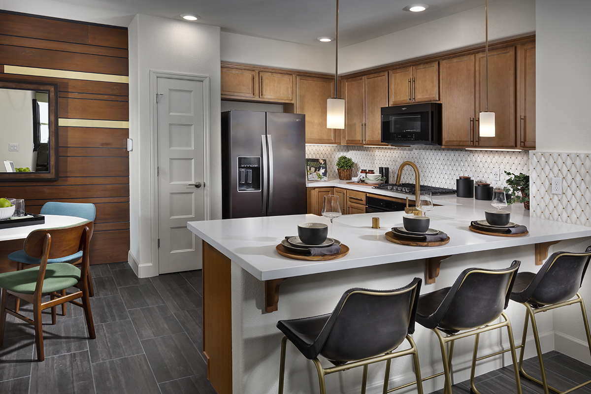 New Homes in San Jose, CA - Metro II at Communications Hill Plan 2 Kitchen