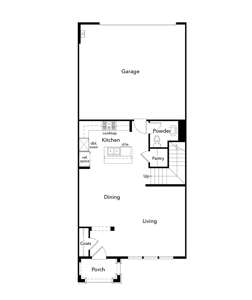 New Homes in Moraga, CA - Plan 1, First Floor