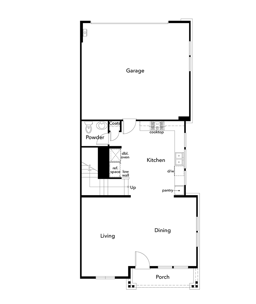 New Homes in Moraga, CA - Plan 2, First Floor