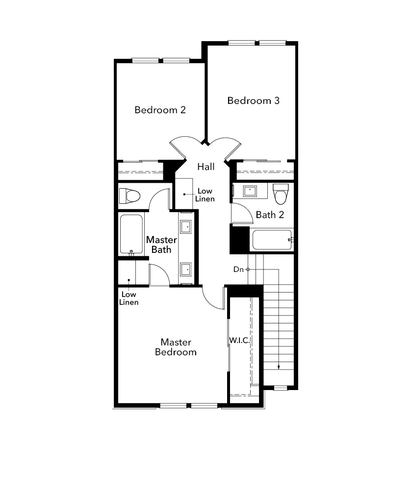 New Homes in Santa Clara, CA - Plan 1861, Third Floor