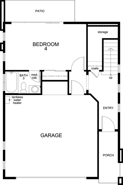 New Homes in San Jose, CA - Plan 1, First Floor