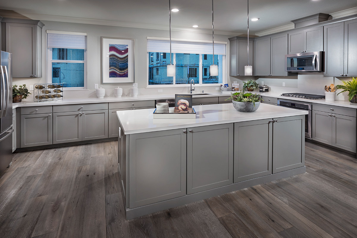 New Homes in San Jose, CA - Platinum II at Communications Hill Plan 1 Kitchen