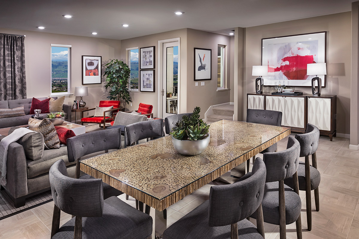 New Homes in San Jose, CA - Platinum II at Communications Hill Plan 2 Dining Room