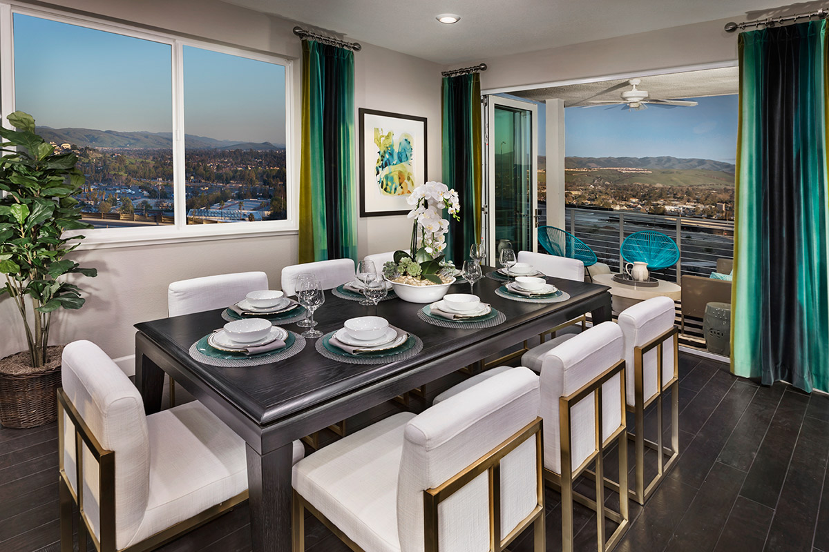 New Homes in San Jose, CA - Platinum II at Communications Hill Plan 3 Dining Room