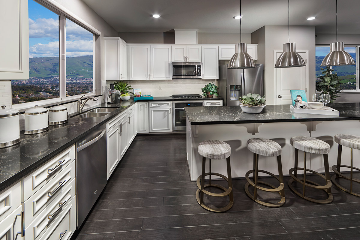 New Homes in San Jose, CA - Platinum II at Communications Hill Plan 3 Kitchen