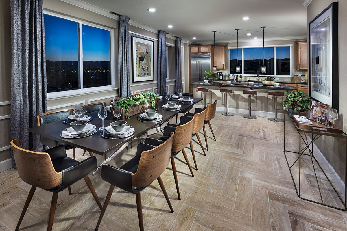 New Homes in San Jose, CA - Platinum II at Communications Hill Plan 4 Dining Room