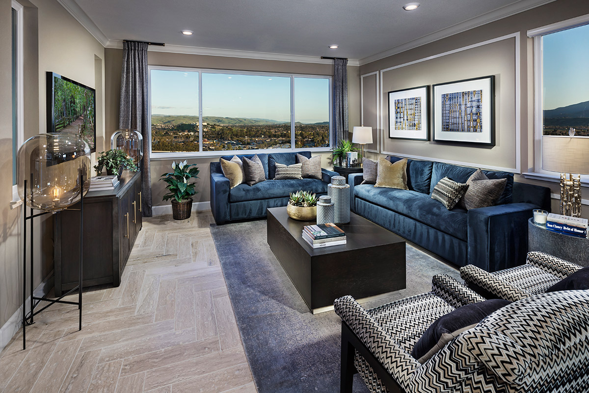 New Homes in San Jose, CA - Platinum II at Communications Hill Plan 4 Living Room