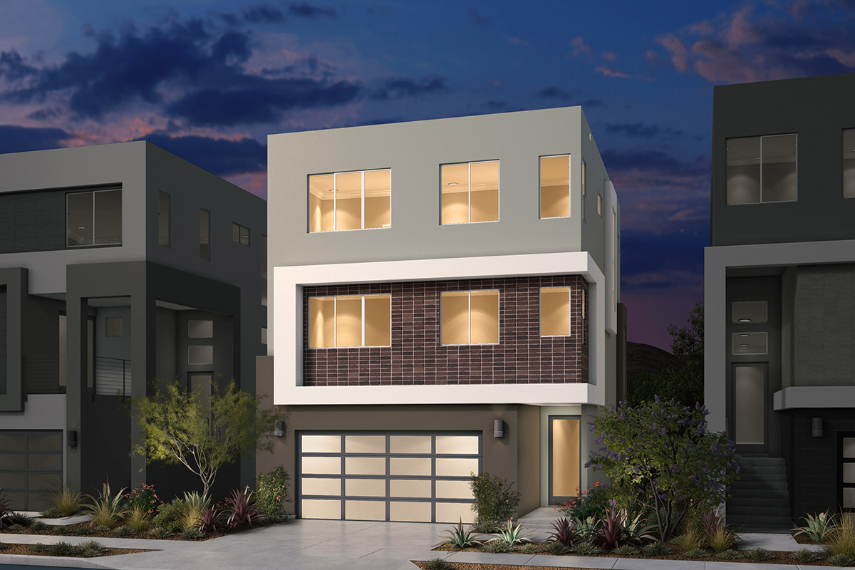 New Homes in San Jose, CA - Platinum II at Communications Hill Plan 1 Contemporary B