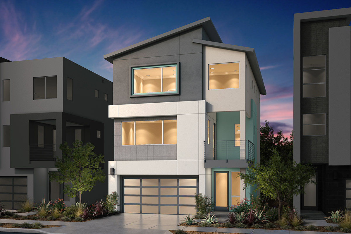 New Homes in San Jose, CA - Platinum II at Communications Hill Plan 2 Contemporary C