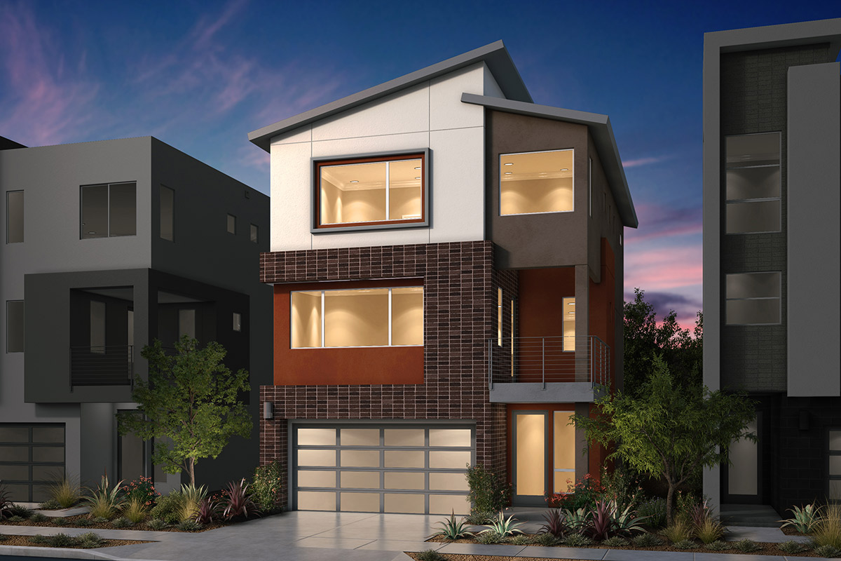 New Homes in San Jose, CA - Platinum II at Communications Hill Plan 2 Contemporary C2