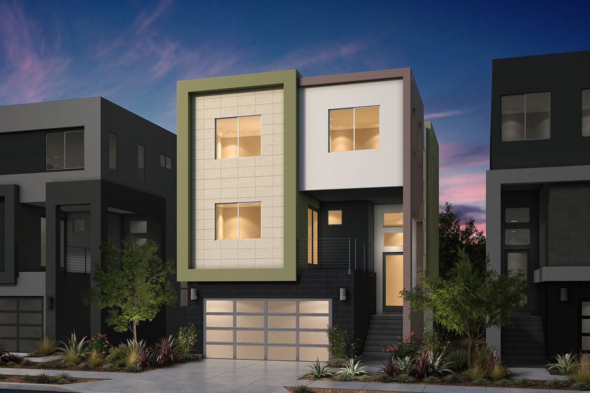 New Homes in San Jose, CA - Platinum II at Communications Hill Plan 3 Contemporary A