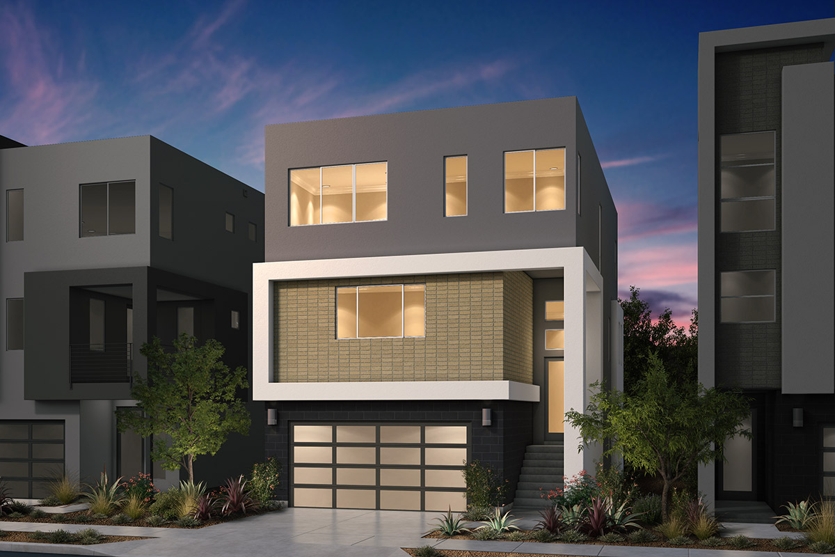 New Homes in San Jose, CA - Platinum II at Communications Hill Plan 4 Contemporary A