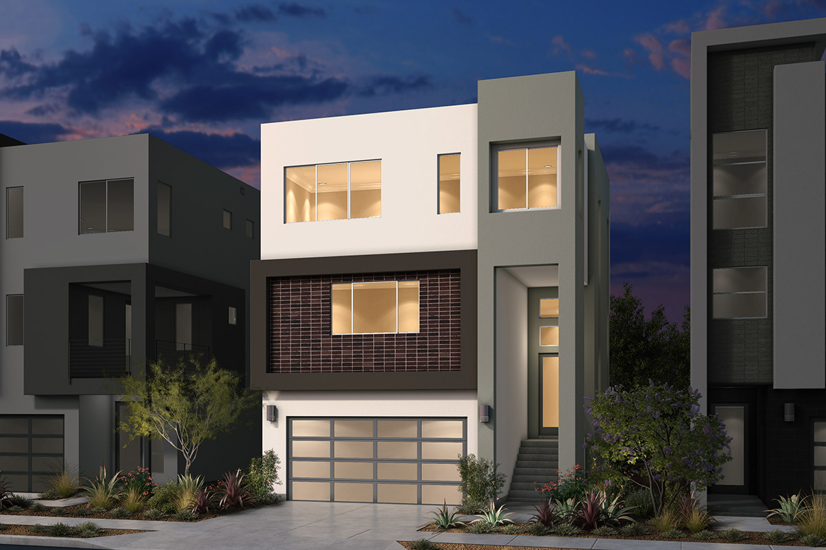 New Homes in San Jose, CA - Platinum II at Communications Hill Plan 4 Contemporary B