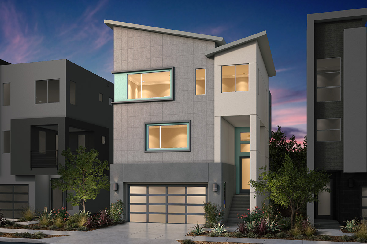 New Homes in San Jose, CA - Platinum II at Communications Hill Plan 4 Contemporary C1