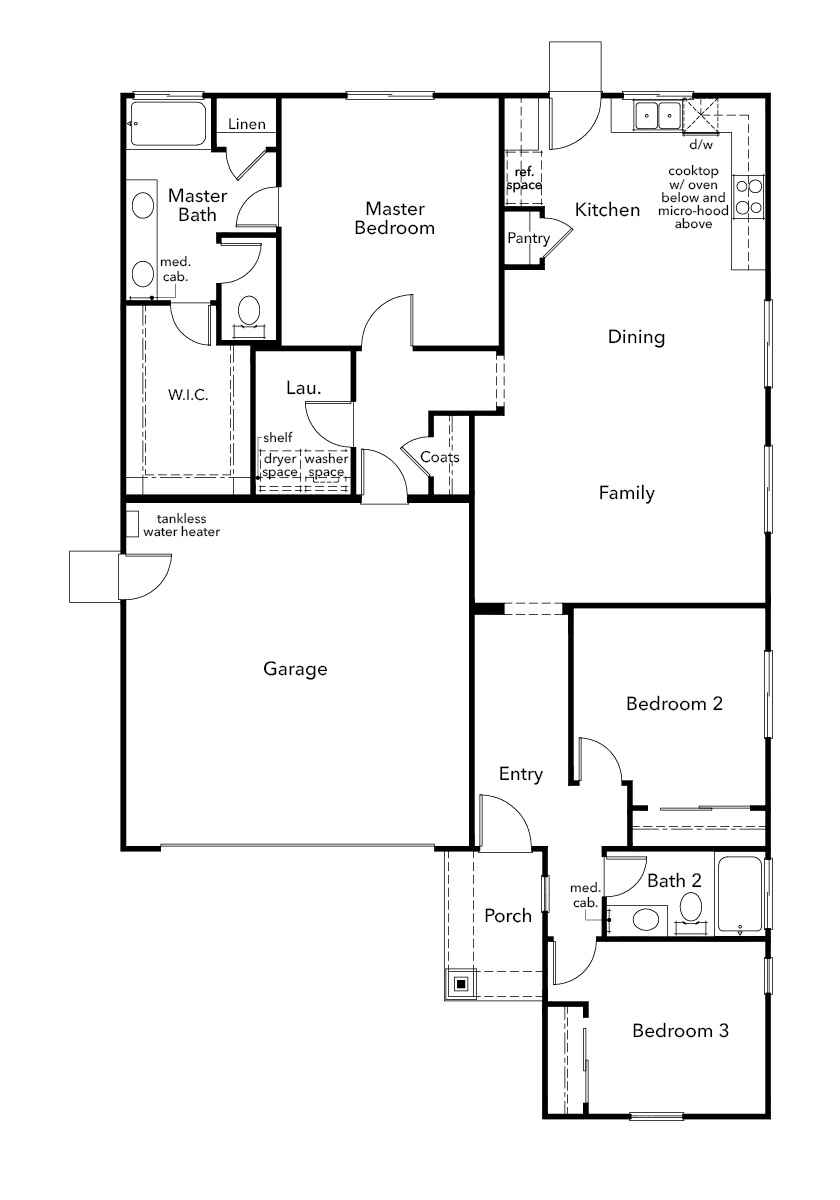 New Homes in Hollister, CA - Plan 1478, First Floor