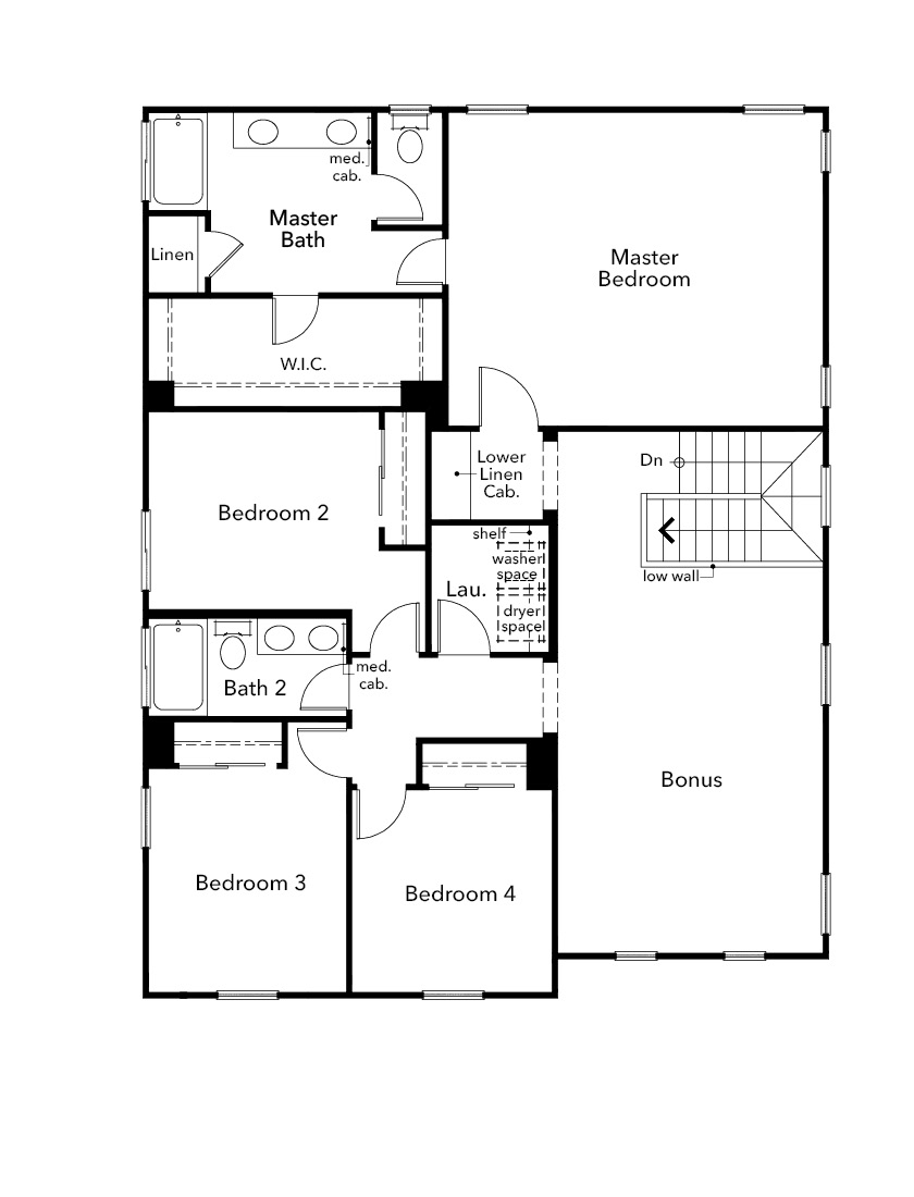 New Homes in Hollister, CA - Plan 2775, Second Floor