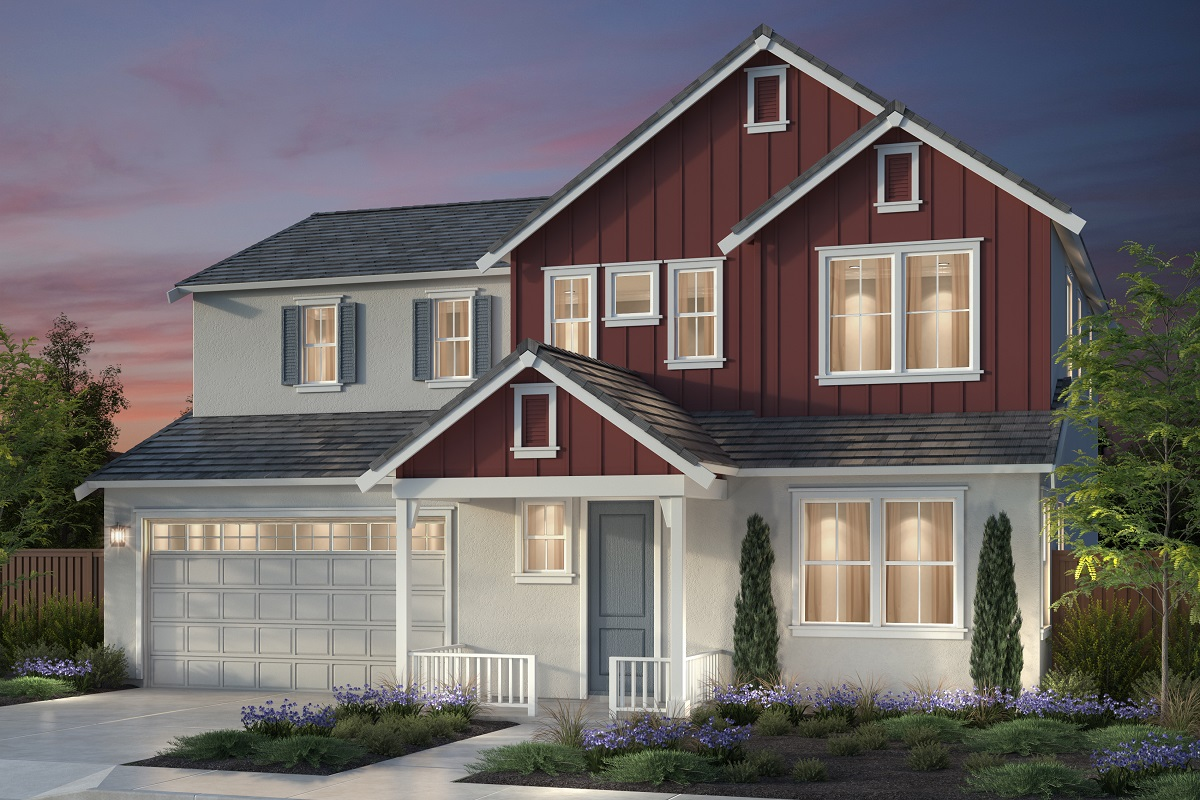 New Homes in Newark, CA - Plan 1 Farmhouse 'C' Elevation