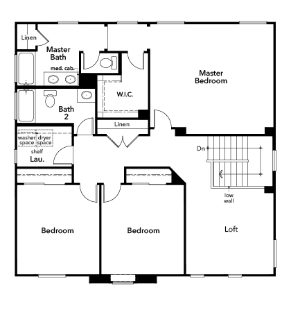 New Homes in Fresno, CA - Plan 2376, Second Floor