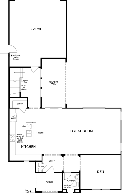 New Homes in Manteca, CA - Plan 2161, First Floor