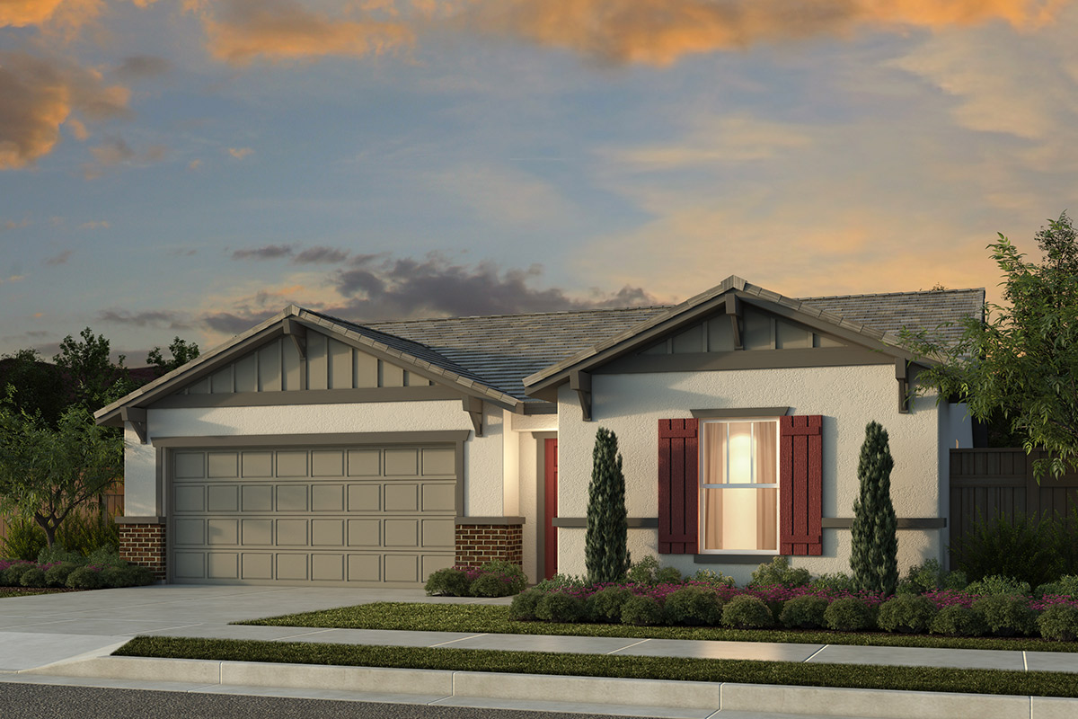 New Homes in Manteca, CA - Plan 1481 Craftsman