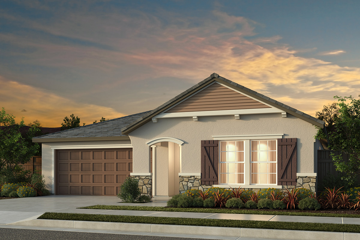 New Homes in Manteca, CA - Haven Villas at Sundance Plan 1481 French Cottage
